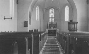 Kirche, Blick zum Altar, 1942