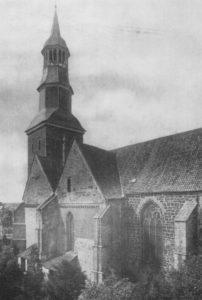 Kirche, Ansicht von Südosten, Teilansicht vor 1915, Foto: Knackstedt, Hamburg