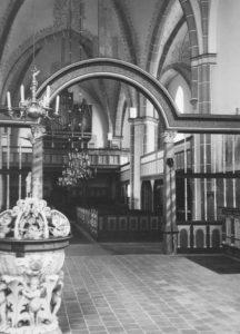 Kirche, Blick zur Orgel, Foto: Ernst Witt, Hannover, 1962