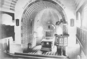 Neue Kapelle, Blick zum Altar, vor 1964