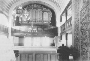 Neue Kapelle, Blick zur Orgel, vor 1964