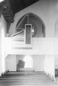 Kapelle, Blick zur Orgel, Teilansicht, nach 1975