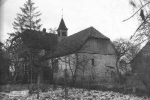 Kapelle, Ansicht von Südosten, um 1960