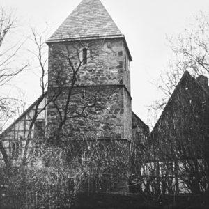 Kirche, Turm, Ansicht von Nordosten, 1962
