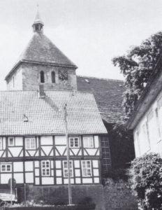 Kirche, Ansicht von Nordosten, Teilansicht, 1973