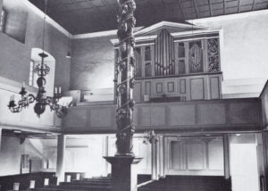 Kirche, Blick zur Orgel, 1973