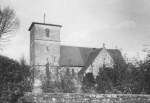 Kirche, Ansicht von Südwesten, nach 06.10.1942