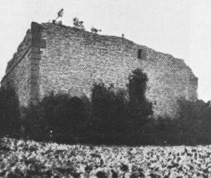 Kapelle, Ruine, Ansicht von Südwesten, vor 1929