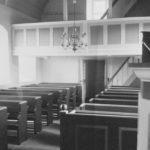 Kapelle, Blick zur West-Empore, Foto: Ernst Witt, Hannover, September 1958