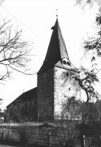 Kirche, Ansicht von Nordwesten (?), um 1960