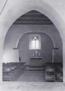 Kapelle, Blick zum Altar, 1973