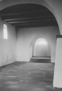 Kapelle, Blick nach Westen, Foto: Ernst Witt, Hannover, September 1954