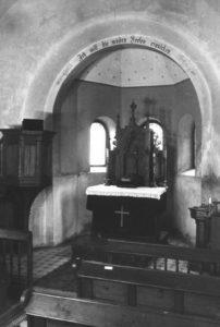 Kapelle, Blick zum Altar, um 1960