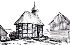 Ehemalige Kapelle, Außenansicht, vor 1929 (1903/04 abgerissen)