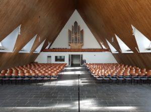 Bonnuskirche, Blick nach Osten zur Orgel