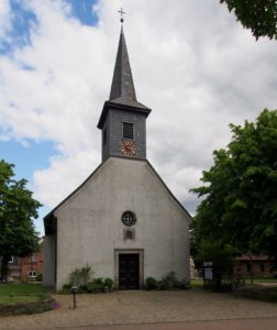Kirche Bordenau, Ansicht von Westen