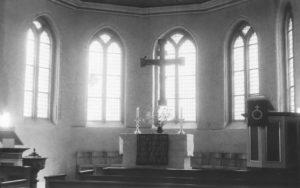 Groß Hehlen, Kirche, Blick zum Altar, vor 1980