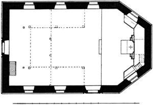 Ehemalige Kapelle, Grundriss, vor 1902