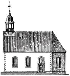 Ehemalige Kapelle, Ansicht von Norden, vor 1902