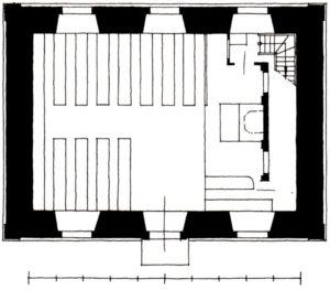 Kapelle, Grundriss, 1937