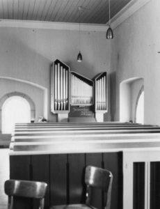 Kapelle Marienau, Blick zur Orgel, nach 1967