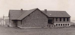 Gemeindezentrum, Rohbau, Ansicht von Nordosten, 1964