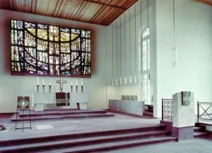 Kirche Nienhagen, Blick zum Altar, vermutlich 1975