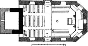 Kirche, Grundriss, vor 1941