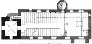 Kirche, Grundriss, vor 1929