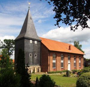 Ahausen, Marienkirche, Ansicht von Südwesten