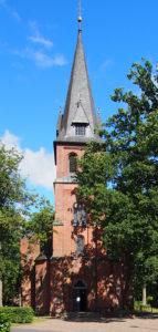 Fintel, Kirche, Ansicht von Westen