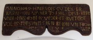 Fintel, Kirche, Inschrift