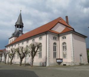 Kirche, Ansicht von Südwesten, 2017, Foto: Uwe Gierz, Gifhorn