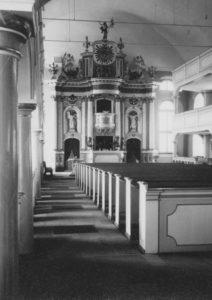 Kirche, Blick zum Altar, 1961, Foto: Ernst Witt, Hannover