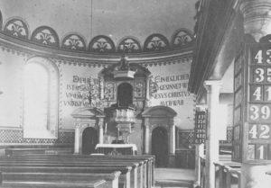 Kirche, Blick zum Altar, nach 1904, vor 1953