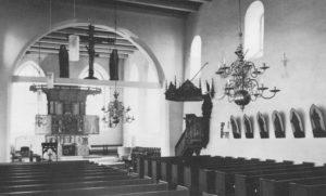Kirche, Blick zum Altar, nach 1966, vor 1985