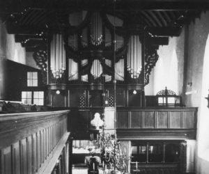Kirche, Blick zur Orgel bzw. zum Altar, vor 1964