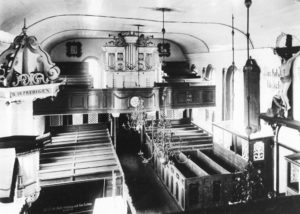 Kirche, Blick zur Orgel, vor 1952