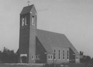 Kirche, Ansicht von Südwesten, 1955