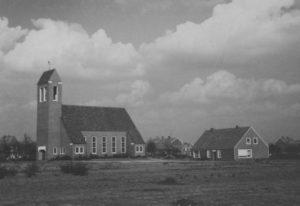 Kirche, Ansicht von Südwesten, um 1961