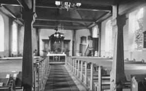 Kirche, Blick zum Altar, 1920