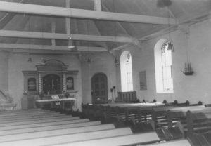 Kirche, Blick zum Altar, 1961