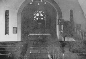 Trinitatiskirche, Blick zum Altar, 1933