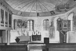 Kirche, Blick zum Altar, nach 1963, vor 1965