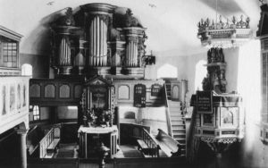 Kirche, Blick zum Altar, vor 1962