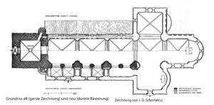 Kirche, Grundriss, Zeichnung von J. G. Schomerus