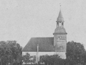 Kirche, Ansicht von Norden, 1910