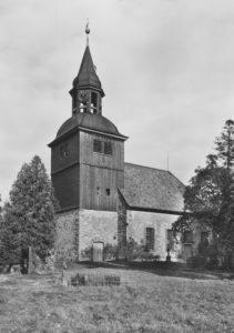 Kirche, Ansicht von Südwesten, um 1955