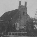 Zerstörte Kirche, Ansicht von Nordwesten, vor 1948