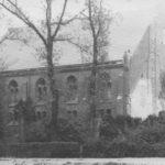 Wiederaufgebaute Kirche, Ansicht von Nordwesten, vor 1955